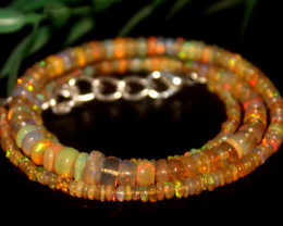 42 Crts Natural Ethiopian Welo Opal Beads Necklace 652