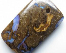 27.07ct Drilled Australian Boulder Opal Pendant Stone