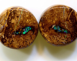 23.30 CTS   BOULDER WOOD FOSSIL OPAL PAIR RO-1116