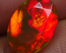 1.460 CRT BRILLIANT FACETED ROLLING FLASH RED FIRE WELO OPAL-