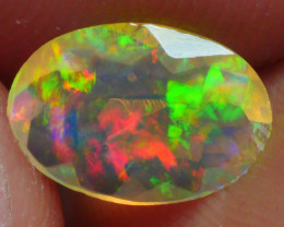0.590 CRT BRILLIANT FACETED FLORAL BEAUTIFULL COLOR WELO OPAL-