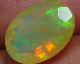 2.410 CRT BRILLIANT FACETED FLORAL FLOWER WELO OPAL-