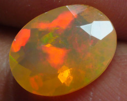 1.550 CRT BRILLIANT FACETED WELO CHAFF RED FIRE WELO OPAL-