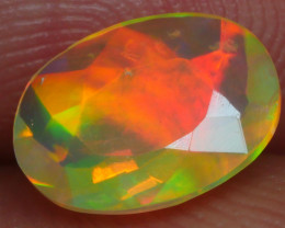 0.670 CRT BRILLIANT FACETED BEAUTIFULL NEON RAINBOW WELO OPAL-