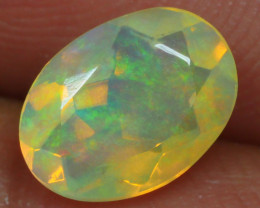 0.640 CRT BRILLIANT FLORAL FACETED WELO OPAL-