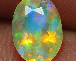 0.590 CRT BEAUTI FACETED HOLOGRAM FLOWER PLAY COLOR WELO OPAL-