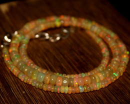 37 Crts Natural Ethiopian Welo Opal Beads Necklace 672