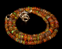 39 Crts Natural Ethiopian Welo Opal Beads Necklace 676