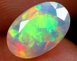 1.23cts Natural Ethiopian Faceted Welo Opal /BF6291