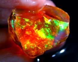 36.41Ct ContraLuz Opal Rough Play of Flash Color Welo Rough Opal E1803