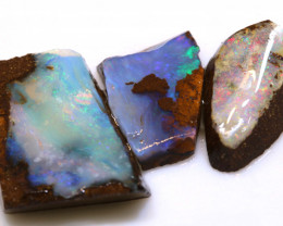 19cts boulder opal pre shaped rub parcel ado-7915