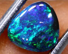 N 1-   0.85  cts    high dome black opal stone lightning ridge TBO-A3047