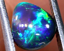 N1 -  1.25  cts    high dome black opal stone lightning ridge TBO-A3053