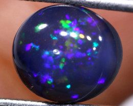 N1 -   2.55  cts    high dome black opal stone lightning ridge TBO-A3056