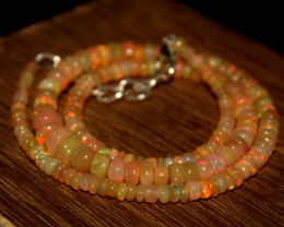 51 Crts Natural Ethiopian Welo Opal Beads Necklace 682