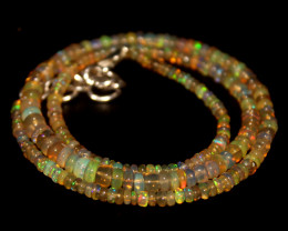 36 Crts Natural Ethiopian Welo Opal Beads Necklace 684