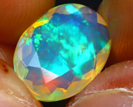 Welo Opal 2.84Ct Natural Ethiopian Play of Color Opal JR220/A44