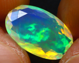 Welo Opal 2.17Ct Natural Ethiopian Play of Color Opal JR222/A44