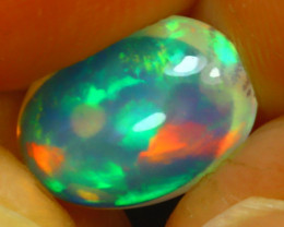 Welo Opal 1.46Ct Natural Ethiopian Play of Color Opal J2402/A44