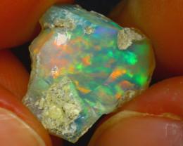 6.14Ct Multi Color Play Ethiopian Welo Opal Rough J2409/R2