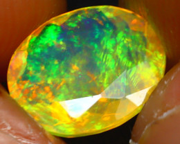 Welo Opal 1.45Ct Natural Ethiopian Play of Color Opal JR229/A44