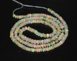 30.95 Ct Natural Ethiopian Welo Opal Beads Play Of Color OB270