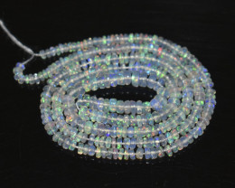 23.20 Ct Natural Ethiopian Welo Opal Beads Play Of Color OB272