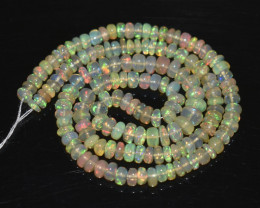 46.75 Ct Natural Ethiopian Welo Opal Beads Play Of Color OB273