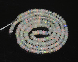 27.55 Ct Natural Ethiopian Welo Opal Beads Play Of Color OB276