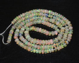 30.40 Ct Natural Ethiopian Welo Opal Beads Play Of Color OB280
