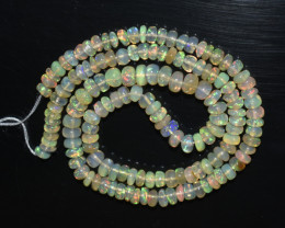 43.10 Ct Natural Ethiopian Welo Opal Beads Play Of Color OB283