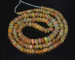 39.65 Ct Natural Ethiopian Welo Opal Beads Play Of Color OB285