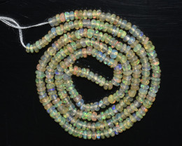 18.75 Ct Natural Ethiopian Welo Opal Beads Play Of Color OB287