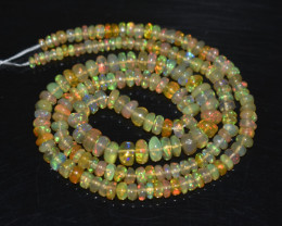 38.65 Ct Natural Ethiopian Welo Opal Beads Play Of Color OB291