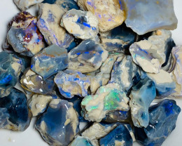 480 CTs Rough Opals - Full of Bright Colours, Great Potential to Cut & Carv