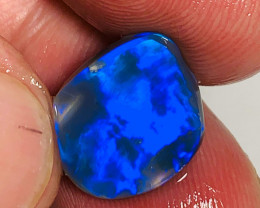 Royal/ Electric Blue on Black Opal - Super Saturated Clean Opal Rub