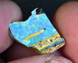7.10 cts Australian Qld polished crystal boulder  opal N9 3,5/5