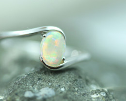 Opal Fire  Crystal set in Silver 925 Ring Size 6 Code CCC2612