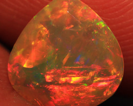 1.06 CT Multi Fire Pattern!! Welo Ethiopian Faceted Opal-CF293