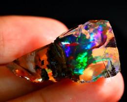 23Ct ContraLuz Rainbow Flash Gamble Rough Delanta Opal Rough E2204
