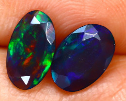 Welo Opal 1.30Ct 2Pcs Natural Ethiopian Smoked Welo Opal H2503/A28