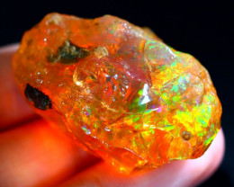 87Ct Neon Flash Fire Gamble Rough Delanta Crystal Opal Rough E2304
