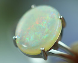 Opal Fire  Crystal set in Silver 925 Ring Size7.5 Code CCC2678