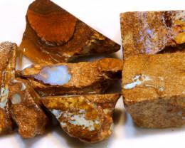 299 cts Boulder opal pipe rough parcel ADO-8024