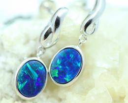 Opal Fire  Doublet set in Silver 925 Earrings   Code CCC2686