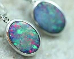 Opal Fire  Doublet set in Silver 925 Earrings   Code CCC2689