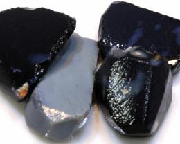 68 cts black opal potch clean rough parcel ado-8060