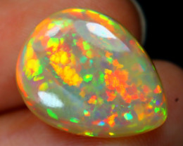 5.53Ct MicroCell Honeycomb Pattern Bright Neon Flash Welo Opal D2405