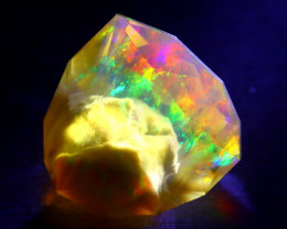 7.03Ct Aurora ContraLuz Phantom Ghost Rainbow Flash Welo Opal D2409