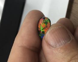 Red high grade opal triplet